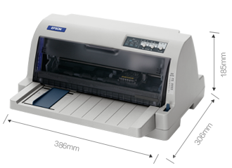 产品外观尺寸 - Epson LQ-735KII产品规格